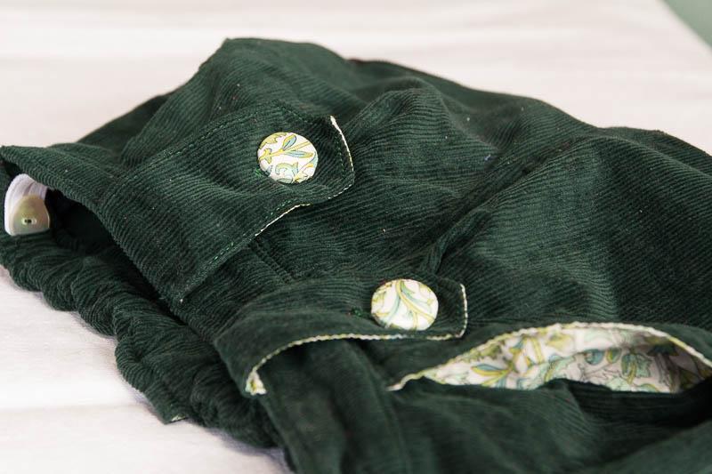 Shorts bleu vert-85